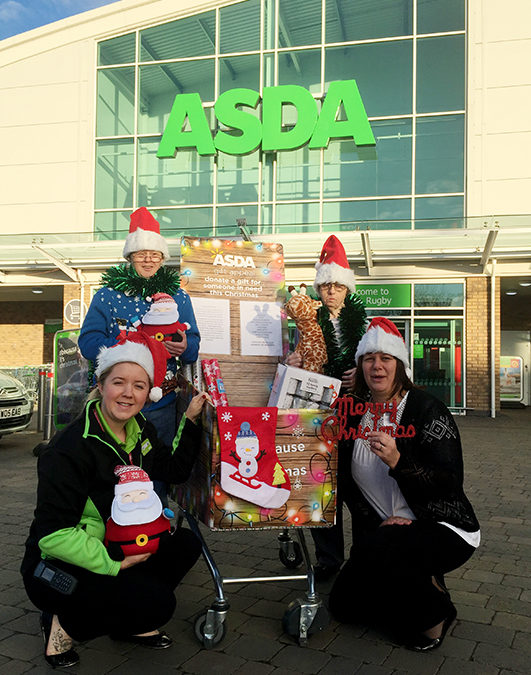 Rugby ASDA Christmas Shopper's Donations
