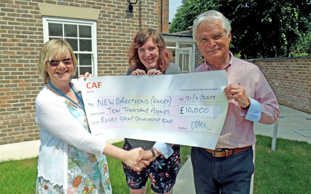 £10,000 Donation From Rugby Group Benevolent Fund