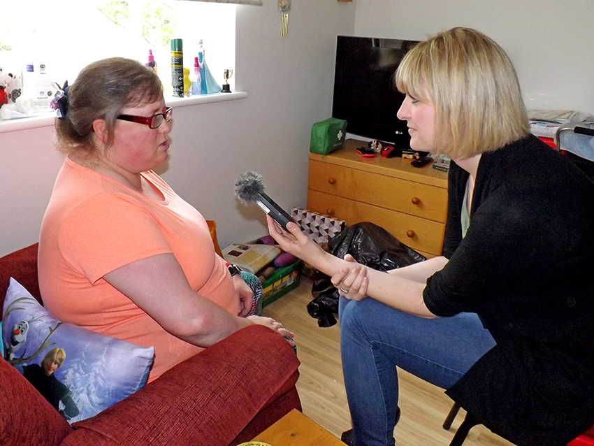 BBC Jo Researches Supported Living