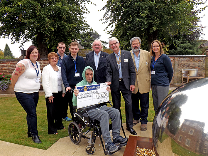 Rotary Club Donation For Sensory Garden