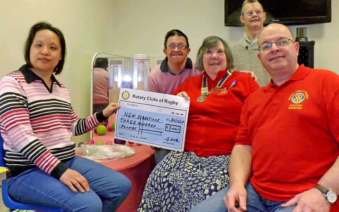 Rugby Rotary Breakfast Club Donation