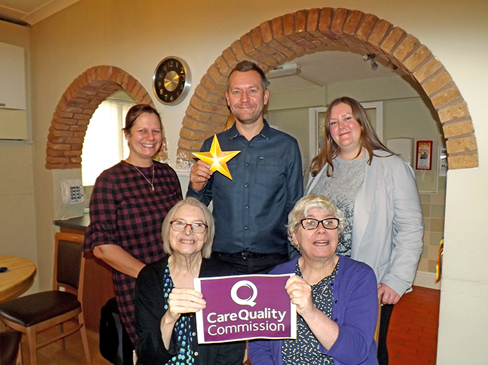 Outstanding Rating From CQC For Vicarage Road