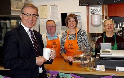 MP Mark Pawsey Visits Moriarty's Café